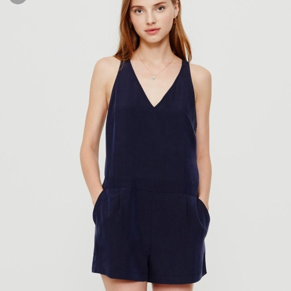 80466ec3de0 Lou   Grey Pants - Lou   Grey Silkwash Navy V-neck Romper